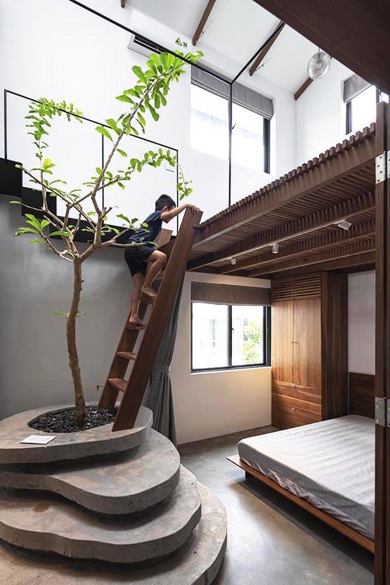 Khoảng trống đặc biệt trong biệt thự ven Hà Nội