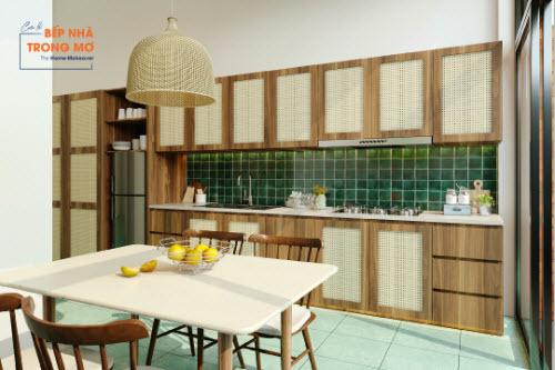 Gian bếp sạch sẽ và gần gũi thiên nhiên - 6