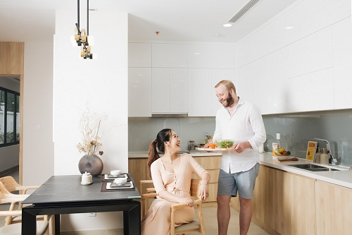 Các căn hộ tại chung cư mang đến cho gia đình không gian sống tiện ghi, sang trọng.