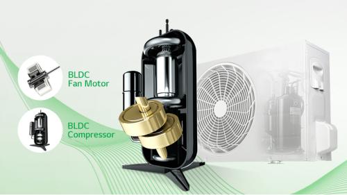 Máy nén Smart Inverter của LG giúp tiết kiệm tối đa điện năng tiêu thụ.