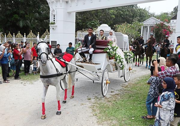 Đám cưới thu hút sự chú ý của người dân. Ảnh: The star.