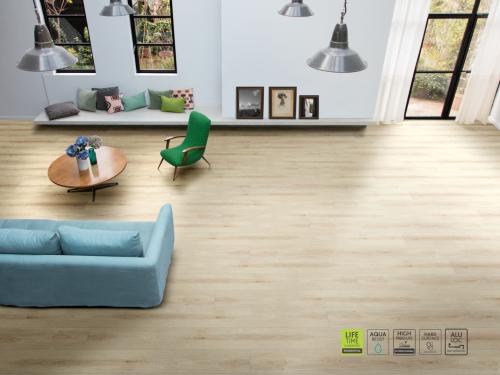 Không gian sống sử dụng sàn gỗ BerryAlloc.
