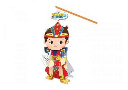 Lồng đèn cổ tích Kibu nhân vật Sơn Tinh trong truyền thuyết Sơn Tinh Thủy Tinh. Cha mẹ có thể kể cho cho con nghe nội dung câu chuyện để giúp bé thêm kiến thức và tình yêu văn học.