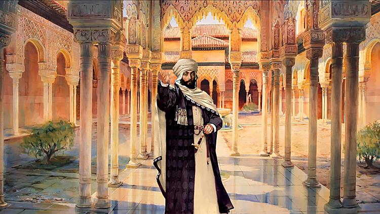 Vương công Abd-al-Rahman III giàu có vô cùng, song tự nhận hạnh phúc chỉ có 14 ngày. Ảnh: civilization-v-customisation.