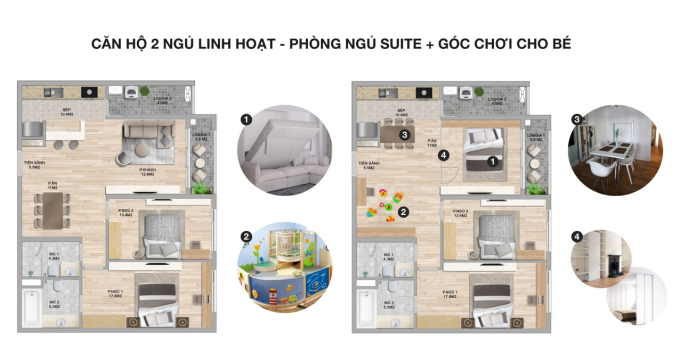 Hình ảnh mô phỏng căn hộThe Zei.