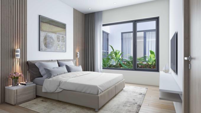 Căn hộ chung cư thiết kế cân bằng không gian chung và riêng