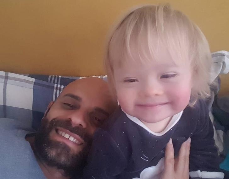 Luca và con gái Alba. Ảnh: Instagram Luca.