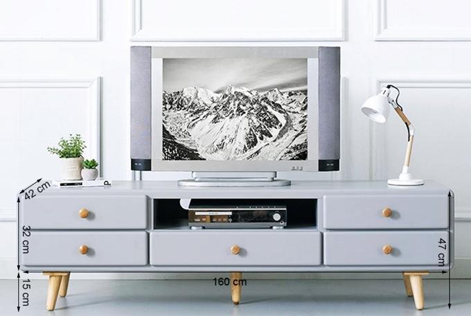 Tủ TV 5 ngăn kéo Rora