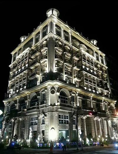 Tòa nhà của ông Hu xây theo kiến trúc châu Âu, bao quanh là hàng cây anh đào. Ảnh: Taiwan News.