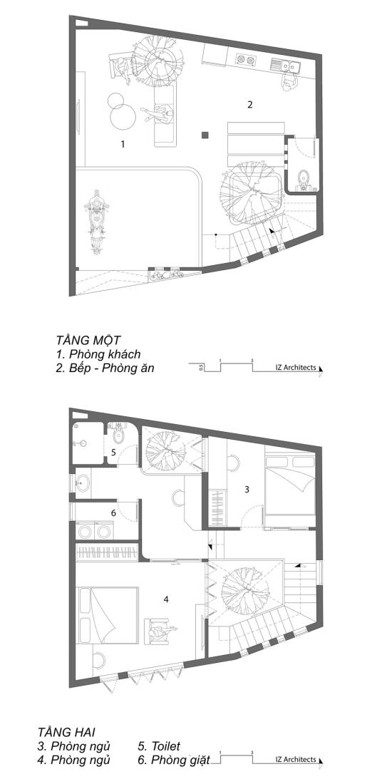 MB1 2 down 1578282575 680x0 - Ngôi nhà hai tầng trên mảnh đất méo 60 m2 ở Đà Nẵng