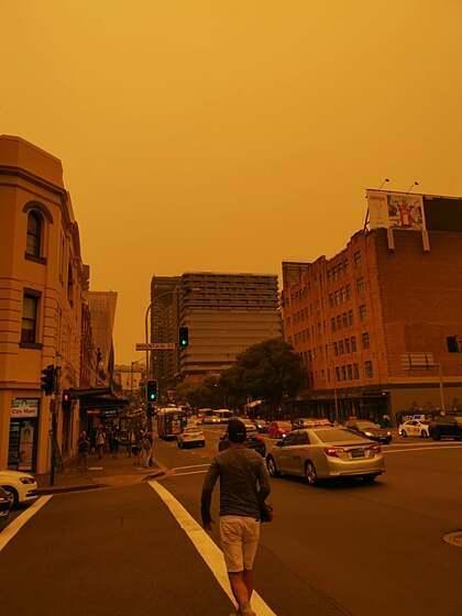 Bầu trời tại Sydney nơi Mai đang sinh sống. Ảnh: NVCC.
