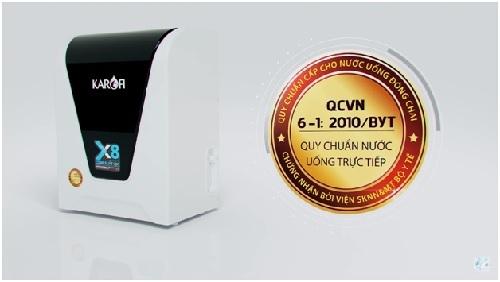 Máy lọc nước Karofi đạt chuẩn quốc gia nước uống trực tiếp QCVN6-1:2010/BYT.