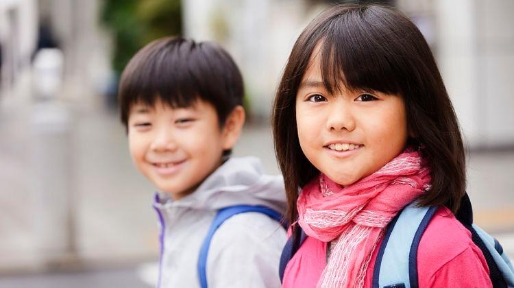 Trẻ Nhật có tỷ lệ phép phì rất thấp. Ảnh: joursa.