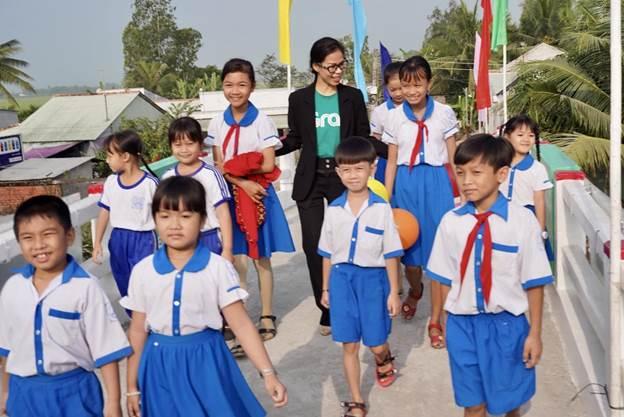 Đây là hoạt động đầu tiên của bà Nguyễn Thái Hải Vân với cương vị tân Giám đốc điều hành Grab Việt Nam. Ảnh: Tất Đạt.