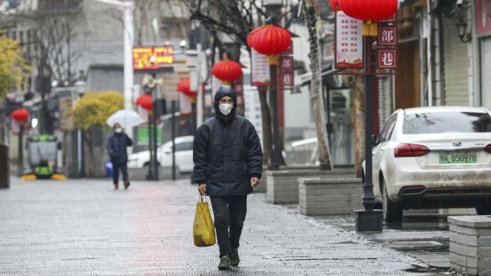 Đường phố Vũ Hán vắng vẻ trong dịp Tết năm nay. Ảnh: AP.