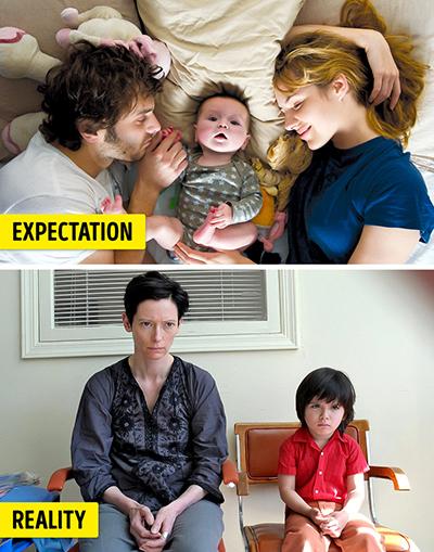 Các cha mẹ trẻ sẽ rơi vào cảm giác không hạnh phúc, khổ sở gấp hai lần so với những người không có con. Ảnh: Brightside