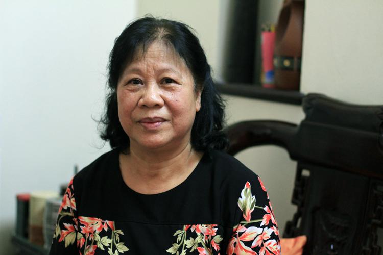 Y tá trưởng Nguyễn Thị Thục, người tham gia chống dịch Sars năm 2003. Ảnh: Phan Dương.