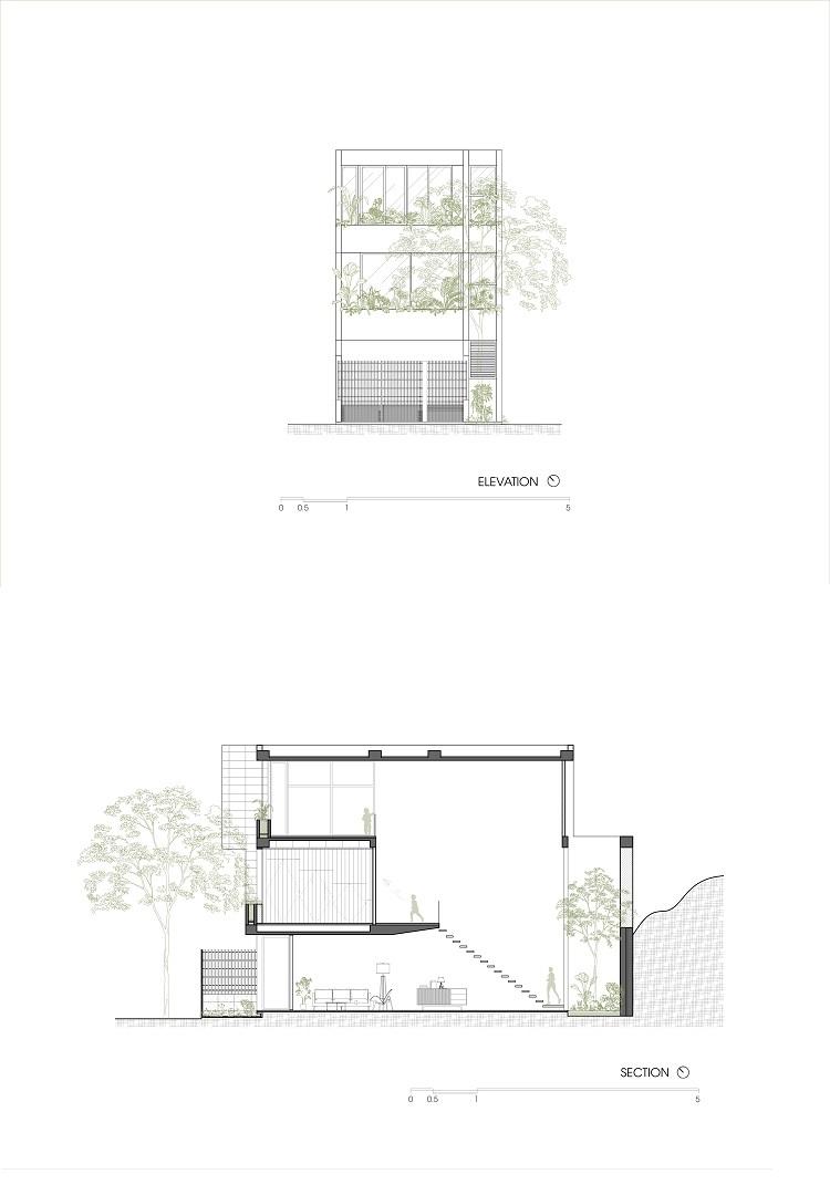 Ngôi nhà 'ruộng bậc thang' trong hẻm