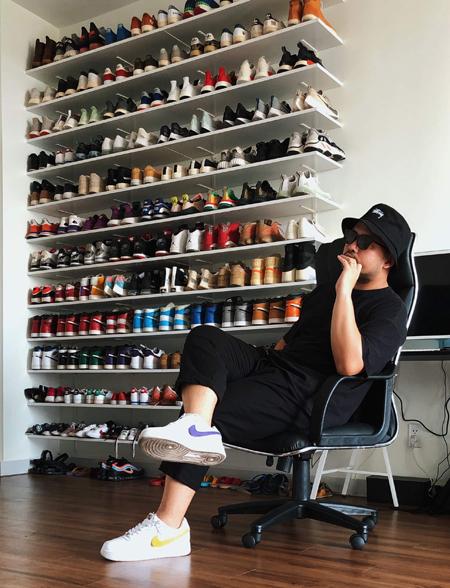Anh chồng sống tối giản với 200 đôi giày - ảnh 1