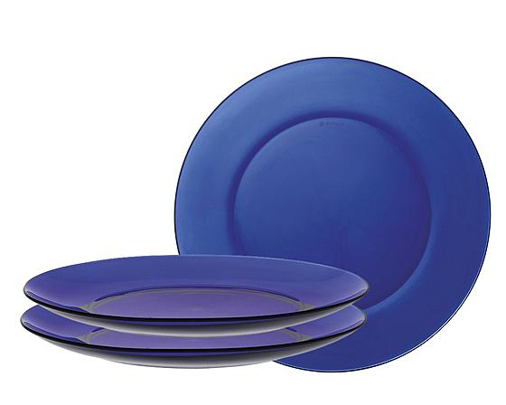Đĩa đường kính 19 cm, màu xanh nước biển, thuận tiện để trình bày các món ăn khô hoặc ít nước sốt. Bộ ba sản phẩm có giá 210.000 đồng, giảm 5% còn 199.500 đồng.
