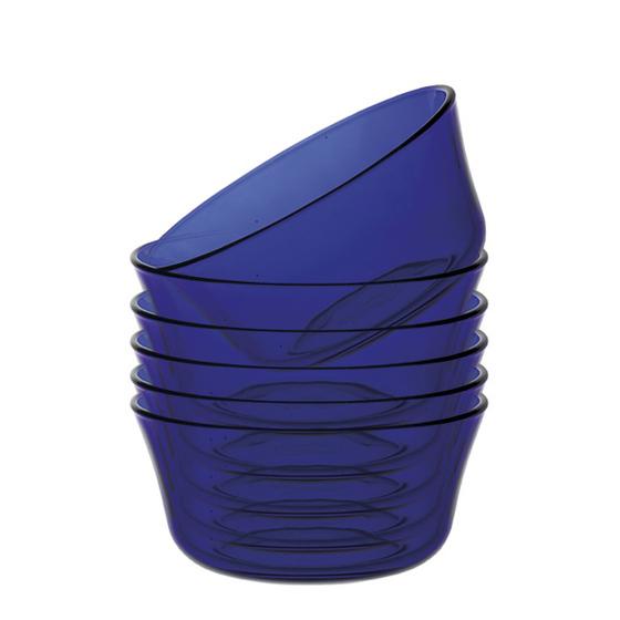 Bát có đường kính 10,5 cm phù hợp đựng canh, súp, chè, cháo... Bát thiết kế đơn giản, đáy bằng, màu xanh nước biển. Bộ 6 bát giá 294.000 giảm 20% còn 235.000 đồng.
