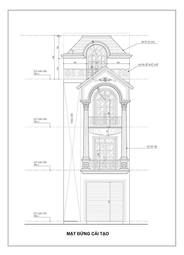 Nhà phố tiện nghi với thiết kế thang máy ngoài trời - ảnh 7
