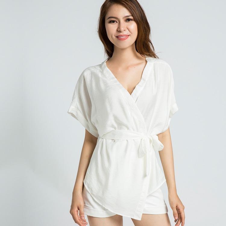 Áo kiểu kimono kèm dây thắt lưng Hity TOP088