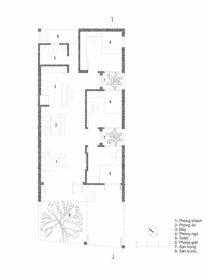 Nhà ba gian ba mái