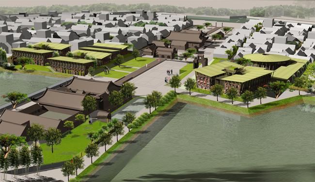 Quy hoạch cải tạo làng Thổ Hà và Trung tâm Gốm Xanh. Ảnh:H&P Architects.