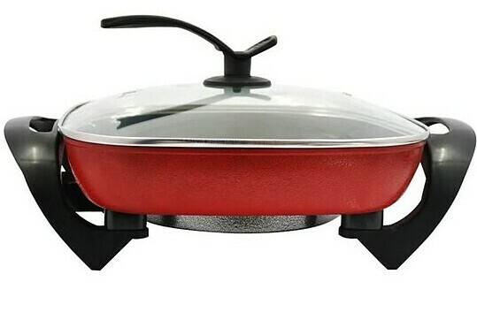 Lẩu, nướng điện nguyên khối chống dính Green Cook GCEH30 chuẩn Hàn Quốc 5L 30cm có dung tích 5L, đường kính 30 cm, phù hợp để chế biến cho bữa ăn lên đến 4-6 người. Nắp kính làm từ chất liệu chịu nhiệt cao cấp, có thể dựng đứng để tiết kiệm diện tích.  Tay cầm nhựa chịu nhiệt cao cấp, chống bỏng, an toàn sử dụng. Ngoài chức năng chính dùng để nấu lẩu, sản phẩm còn có thể dùng để chiên, xào, nấu canh tiện lợi,  giúp bạn bổ sung nhiều món ăn hấp dẫn vào thực đơn hàng ngày của gia đình. Sản phẩm giảm giá đến 48% còn 259.000 đồng.