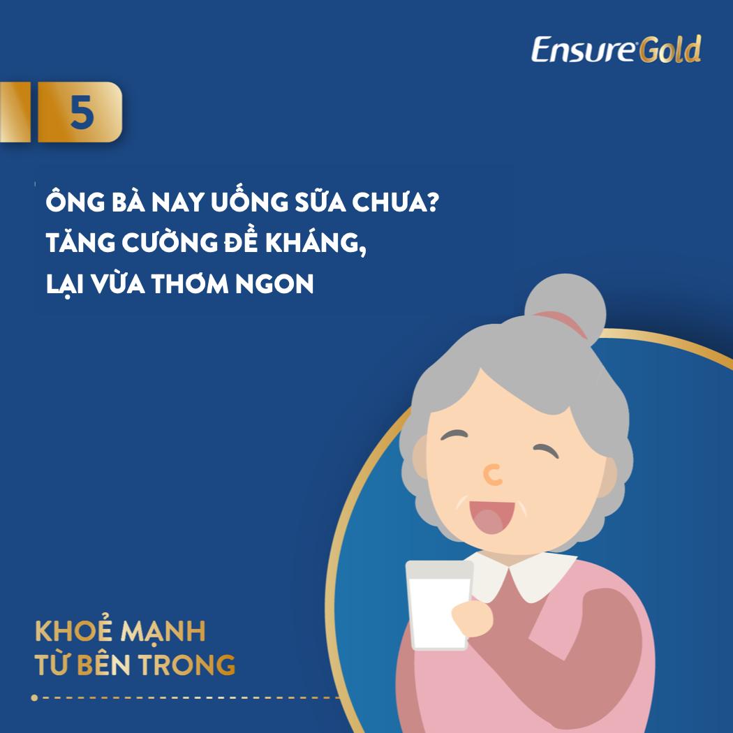 Bổ sung hai ly sữa mỗi ngày giúp cha mẹ, ông bà ngoài 60 tuổi tăng cường sức khỏe.