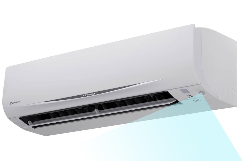 Mắt thần thông minh hoạt động dựa trên cảm biến hồng ngoại, tự động phát hiện chuyển động của người trong phòng để điều chỉnh nhiệt độ của máy cho phù hợp.
