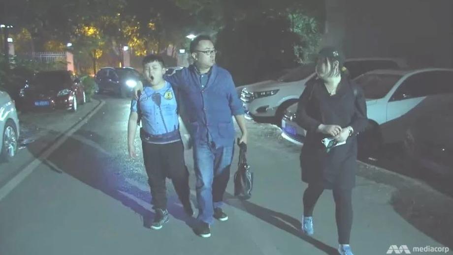 Cậu bé Wen Zi Xu và bố mẹ. Ảnh: CNA.